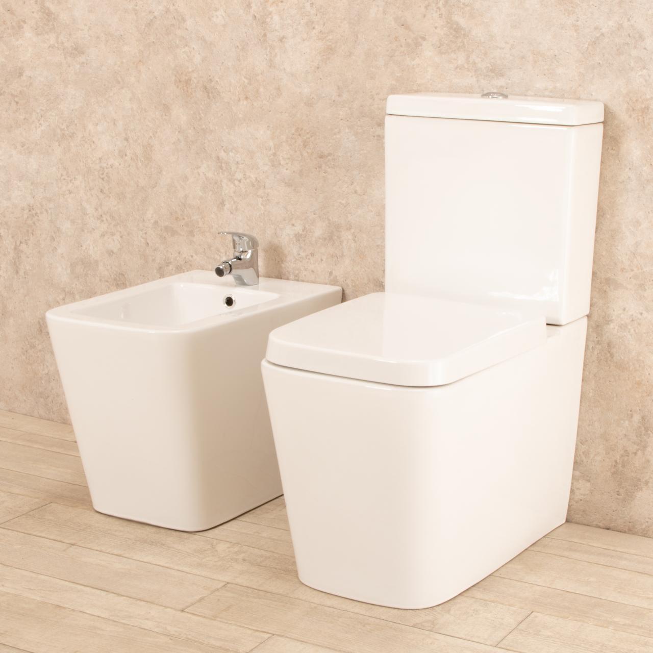 WC Minimal con cassetta esterna e bidet 2
