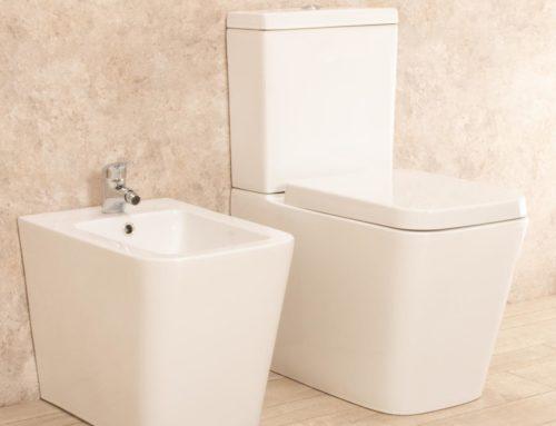 WC Minimal con cassetta esterna e bidet