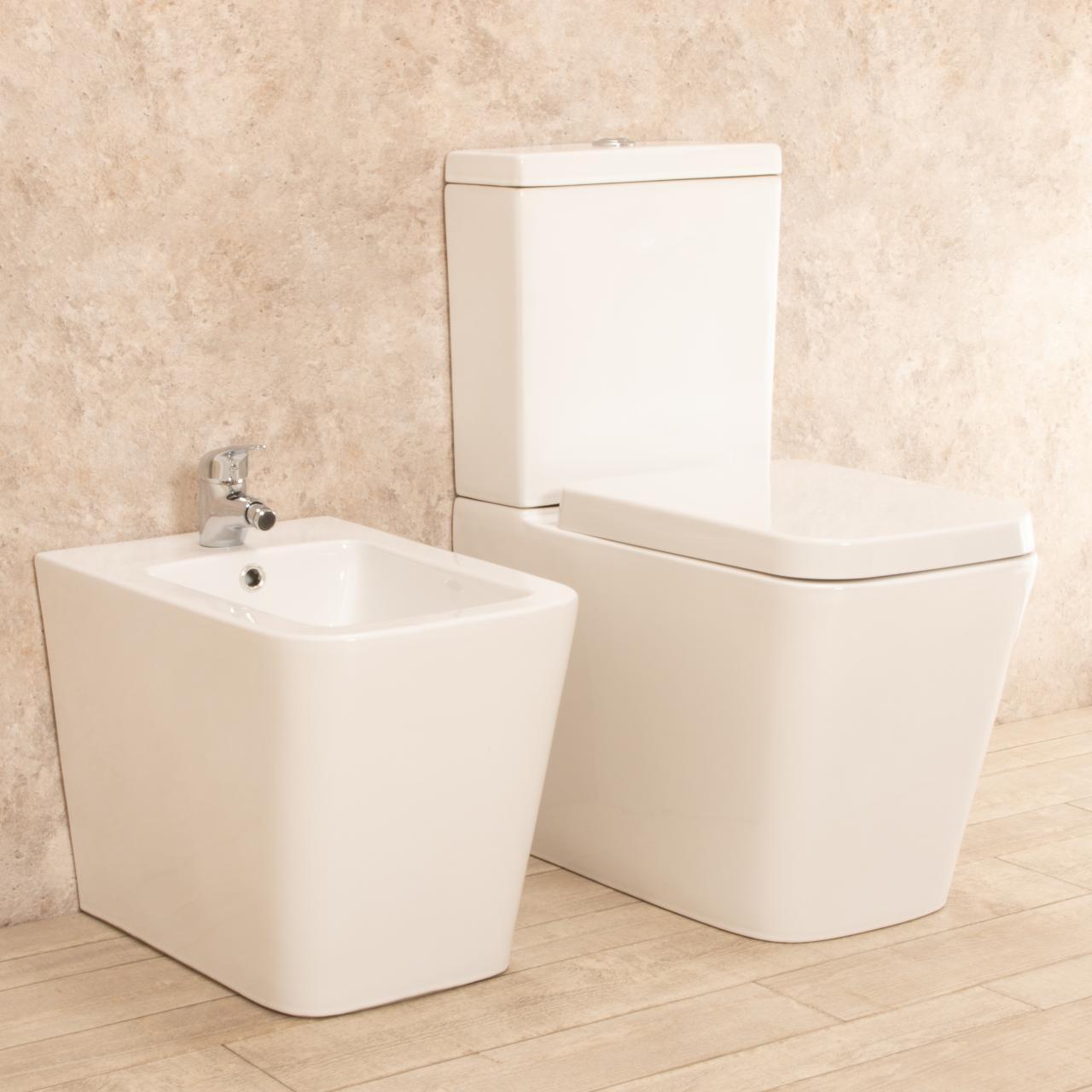 WC Minimal con cassetta esterna e bidet 3