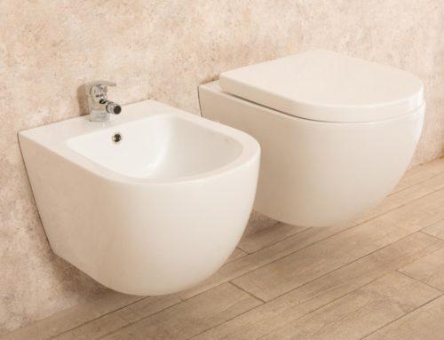 WC sospeso Vortix senza brida con bidet